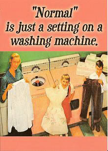 """Normal"" is just as etting on a washing machine."