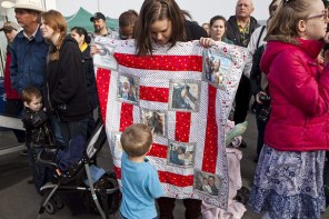 Photo from Seattle Times this weekend of families sending off loved ones on the USS Nimitz