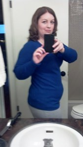 Looking 4-5 months pregnant after less than a week of stims. Fuuun (sorry for the blurry photo)